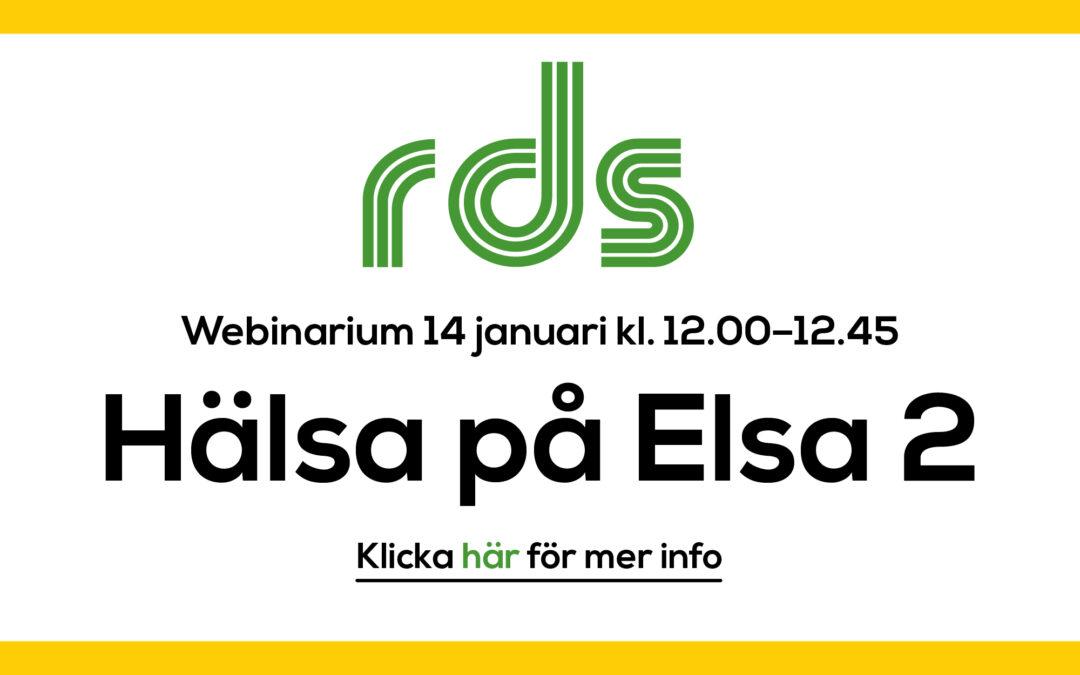RDS-webinarium: Hälsa på Elsa 2